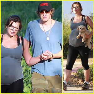 Pregnant Milla Jovovich Takes a Break From Healthy Eating for a Sweet Treat