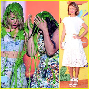 Sarah Hyland Gets Slimed With 'Modern Family' Cast at Kids Choice Award 2015!