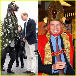 Prince William Spends Time With Lion Dancers in Japan