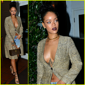 Rihanna Shows Tons of Cleavage for Dinner in Santa Monica