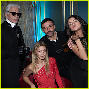Selena Gomez & Gigi Hadid Celebrate CR Fashion Book Issue 6 Together in Paris
