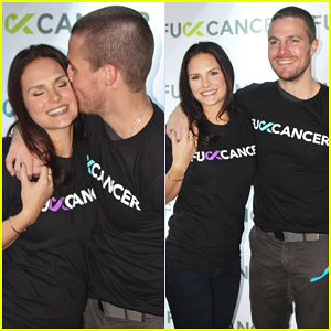 Stephen Amell Gets Support from Wife Cassandra Jean at FCancer Charity Hosting Gig!