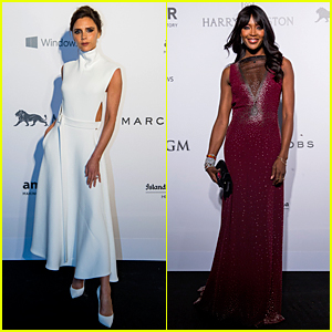 Victoria Beckham & Naomi Campbell Glam Up For amfAR Hong Kong Gala