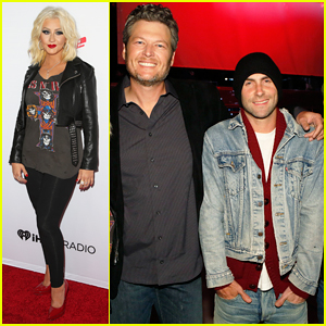 Adam Levine & Christina Aguilera Hit The Stage at 'The Voice' Season 8 Spring Concert!