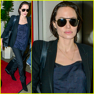 Angelina Jolie Lands in L.A. After United Nations Meeting