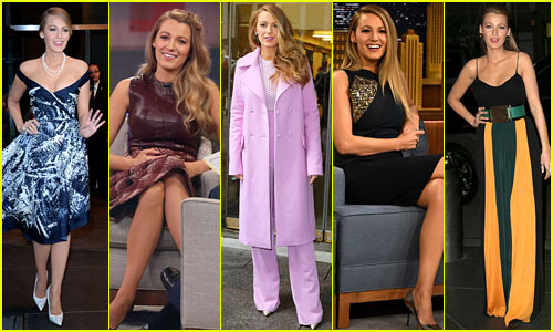 Blake Lively Wore Ten Amazing Outfits for One Day of Press!