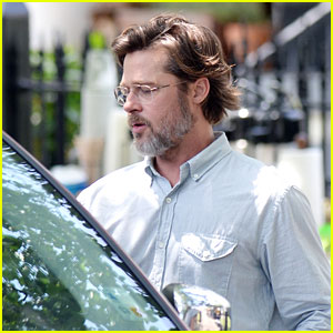 Brad Pitt Shows Off a Scruffy Look on 'The Big Short'