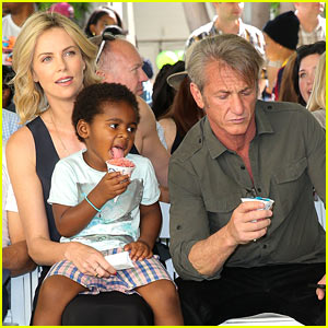 Charlize Theron & Sean Penn Bring Jackson to Charity Event!