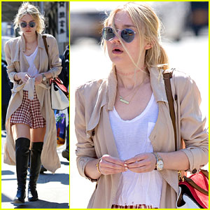 Dakota Fanning Strolls In New York City After 'Effie Gray' Premiere