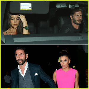 David & Victoria Beckham Double Date with Eva Longoria & Her Boyfriend Jose Baston