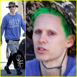 Jared Leto Spotted with Green 'Suicide Squad' Hair in Toronto
