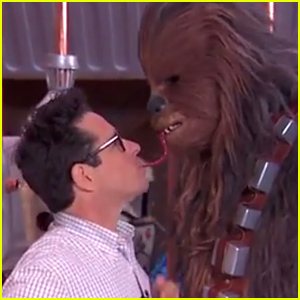 J.J. Abrams & Chewbacca Take the Twizzler Challenge (Video)