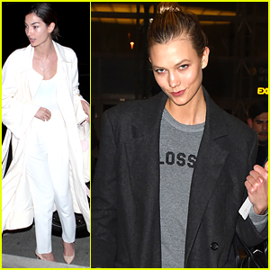 Lily Aldridge & Karlie Kloss Leave Los Angeles Behind For Paris & Rio
