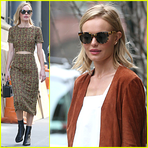 Kate Bosworth Shows Some Skin in Midriff-Baring Outfit in NYC
