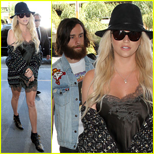 Kesha Rocks Super Sexy Outfit While Flying Out of LAX