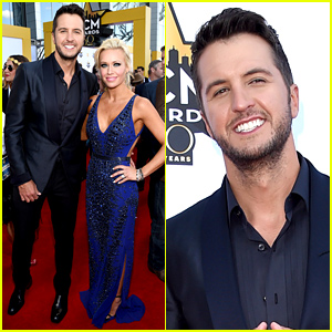Luke Bryan & Wife Caroline Boyer Pose for Photos at ACM Awards 2015!