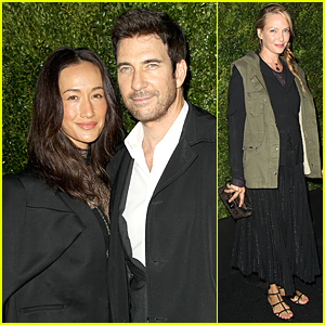 Maggie Q & Dylan McDermott Are Perfect Engaged Couple at Tribeca Dinner