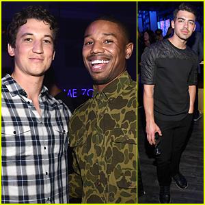 Michael B. Jordan & Miles Teller Are the Fantastic Two at Samsung Studio Launch