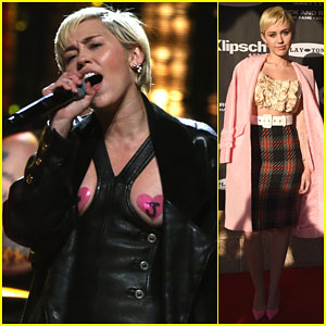 Miley Cyrus Rocks Nipple Pasties, Says She Wanted to Have Sex With Joan Jett