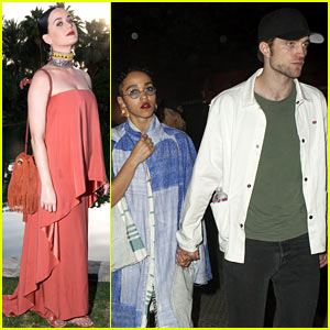 Robert Pattinson & FKA twigs Hang with Katy Perry at Coachella