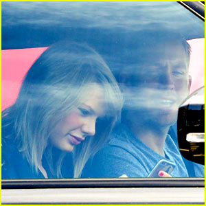 Taylor Swift & Calvin Harris Pictured Leaving Her House!