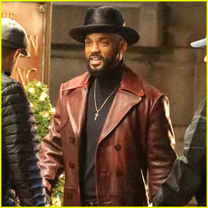 Will Smith Spotted in Costume on 'Suicide Squad' Set!