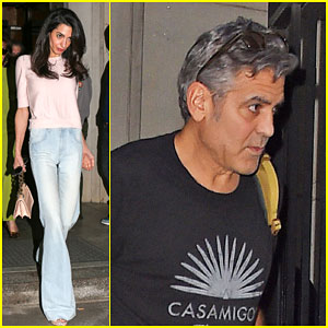 Amal Clooney Visits George On Set of 'Money Monster'