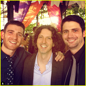 'One Tree Hill' Reunion Alert! Bryan Greenberg & James Lafferty Catch Up With Creator Mark Schwahn in NYC