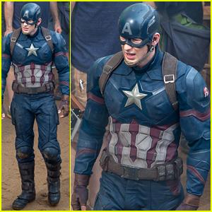 Chris Evans Suits Up for 'Captain America: Civil War'!