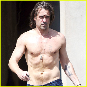 Colin Farrell Strips Off His Sweaty Shirt After Hot Yoga Class