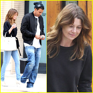 Ellen Pompeo & Chris Ivery Are One Coordinated Couple On a Shopping Trip
