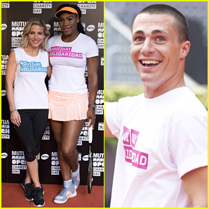 Elsa Pataky & Colton Haynes Play Tennis in Madrid With Serena Williams for a Good Cause