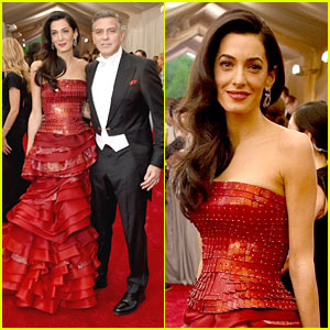 George & Amal Clooney Attend Their First Met Gala Together!