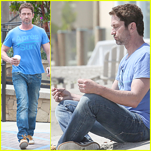 Gerard Butler Goes Zen & Meditates On Malibu Beach