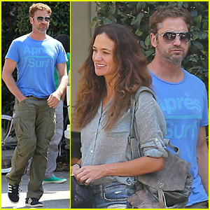 Gerard Butler & Morgan Brown Go Car Shopping Together in Venice