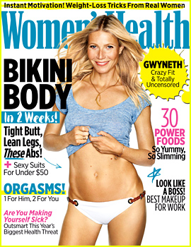 Gwyneth Paltrow Flaunts Her Abs, Says 'Having Sex' & 'Laughing' Are Keys to Healthy Life in 'Women's Health'