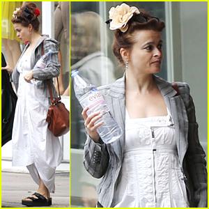 Helena Bonham Carter Looks Ready For Summer in a White Dress