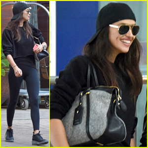 Irina Shayk is All Smiles a Week After Kissing Bradley Cooper