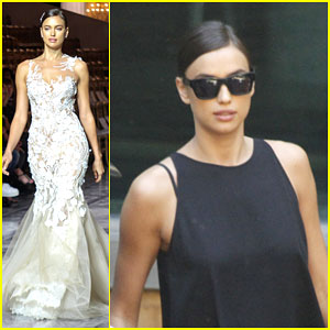 Irina Shayk Shows Off Her Best Bridal Look in Spain