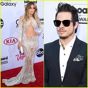 Jennifer Lopez & Casper Smart Walk Billboard Music Awards 2015 Red Carpet Separately