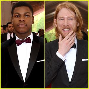'Star Wars' Actors John Boyega & Domhnall Gleeson Hit the Met Gala 2015 Red Carpet