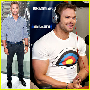 Kellan Lutz Muscles Up in His 'Bullseye' Tee for NYC Promo