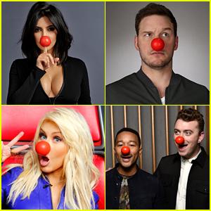 Kim Kardashian, Chris Pratt & More Support Red Nose Day!