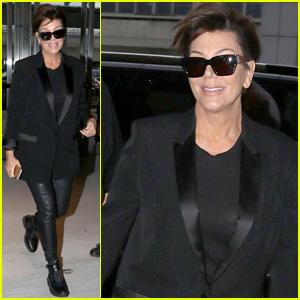 Kris Jenner Heads Home From East Coast Met Gala Trip