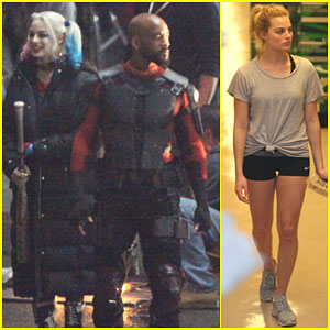 Margot Robbie Films a Fight Scene For 'Suicide Squad'