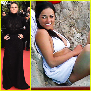 Michelle Rodriguez Hits the Cannes Red Carpet One More Time