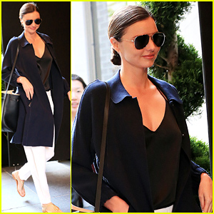 Miranda Kerr Gives Her Son Flynn a Kiss First Thing in the Morning