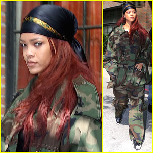 Rihanna Steps Out in Camo After Hanging Out With Beyonce