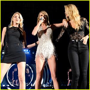 Taylor Swift Surprises Detroit Concert Crowd with Gigi Hadid & Martha Hunt!