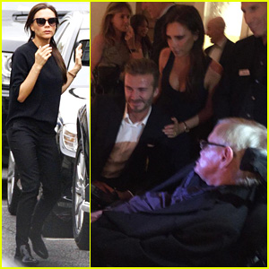 Victoria & David Beckham Meet Physicist Stephen Hawking